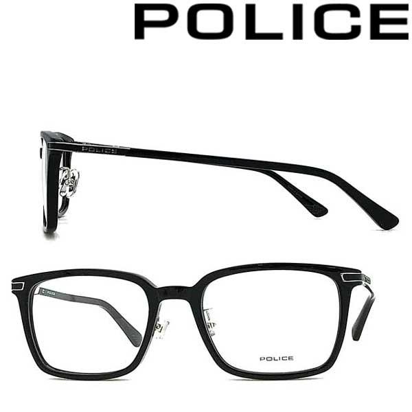 POLICE メガネフレーム ポリス メンズ&レディース ブラック 眼鏡 POLICE-VPLA12J-01KU