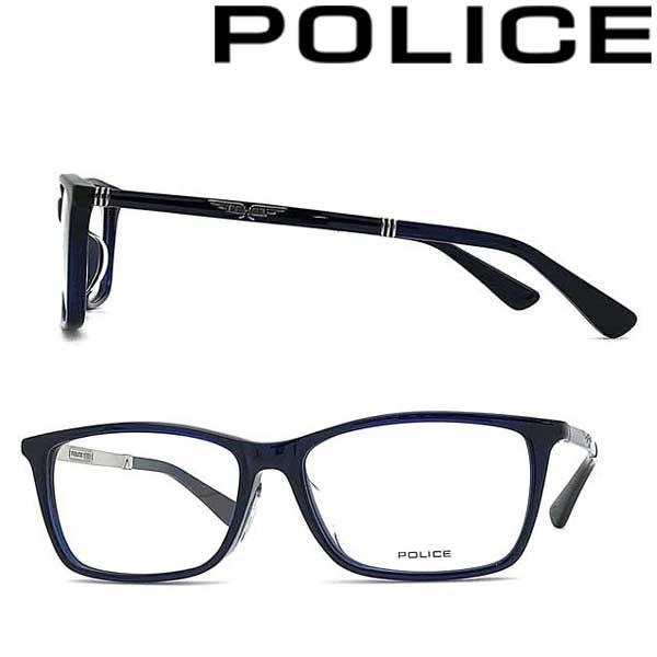 POLICE メガネフレーム ポリス メンズ&レディース クリアダークネイビー 眼鏡 POLICE-VPLA13J-02LU