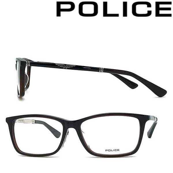 POLICE メガネフレーム ポリス メンズ&レディース クリアダークブラウン 眼鏡 POLICE-VPLA13J-03BU