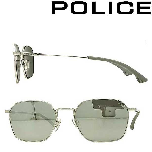 POLICE サングラス ポリス メンズ&レディース スモークシルバーミラー 浦和レッズ槙野選手 着用モデル POLICE-SPL970I-579X ブランド
