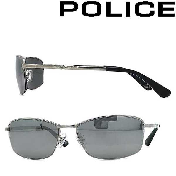 POLICE サングラス ポリス メンズ&レディース スモークシルバーミラー POLICE-SPLA61J-579X ブランド