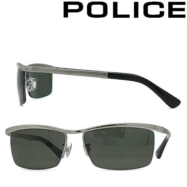 POLICE サングラス ポリス メンズ&レディース グリーン ≪偏光レンズ≫ POLICE-SPLA62J-579P ブランド
