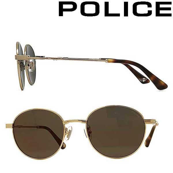 POLICE サングラス ポリス メンズ&レディース ダークグレーゴールドミラー POLICE-SPLA64J-300G ブランド