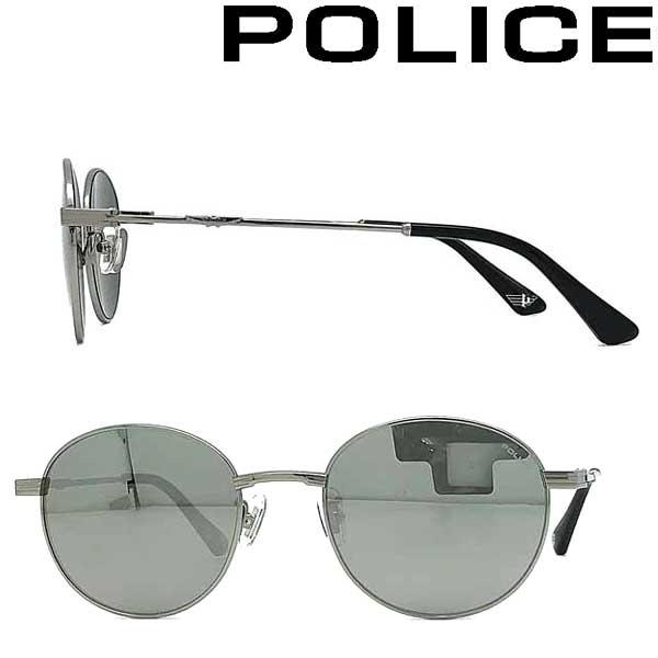 POLICE サングラス ポリス メンズ&レディース スモークシルバーミラー POLICE-SPLA64J-S11X ブランド