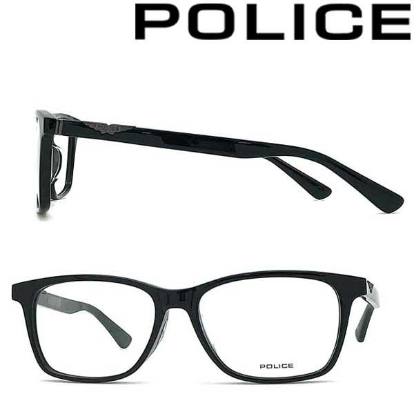POLICE メガネフレーム ポリス メンズ&レディース ブラック 眼鏡 POLICE-VPLA14J-01KU