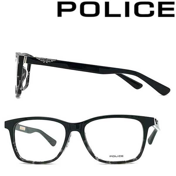 POLICE メガネフレーム ポリス メンズ&レディース ブラックグレーハバナグラデーション 眼鏡 POLICE-VPLA14J-03KU