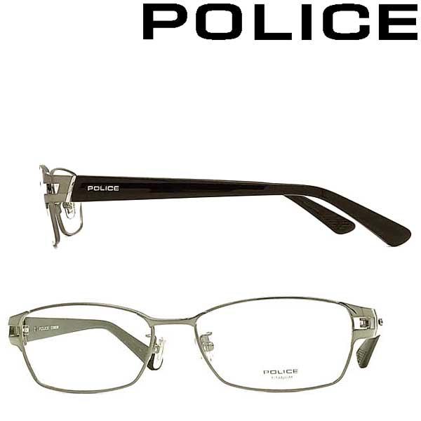 POLICE メガネフレーム ポリス メンズ&レディース ガンメタル 眼鏡 POLICE-VPLA99J-0568 ブランド
