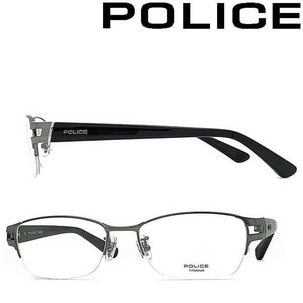 POLICE メガネフレーム ポリス メンズ&レディース ガンメタル 眼鏡 POLICE-VPLB01J-0568 ブランド