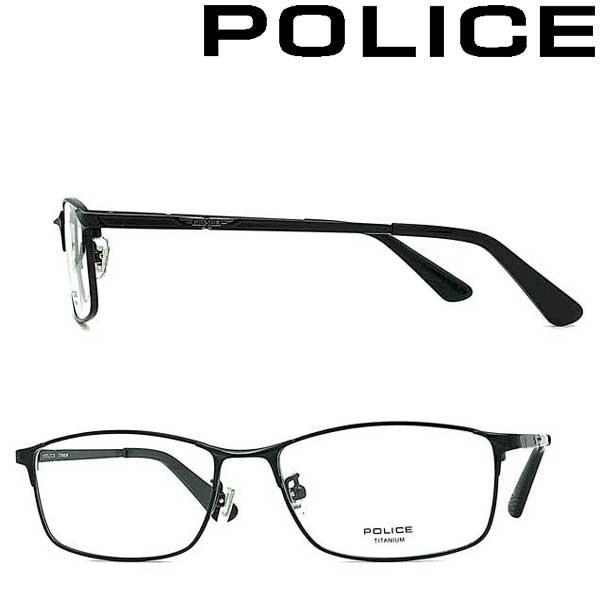 POLICE メガネフレーム ポリス メンズ&レディース ブラック 眼鏡 POLICE-VPLB02J-0530 ブランド