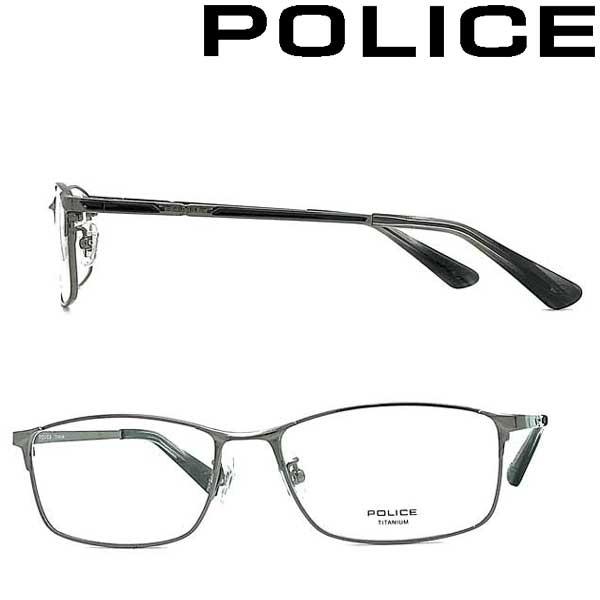 POLICE メガネフレーム ポリス メンズ&レディース ガンメタル 眼鏡 POLICE-VPLB02J-0568 ブランド