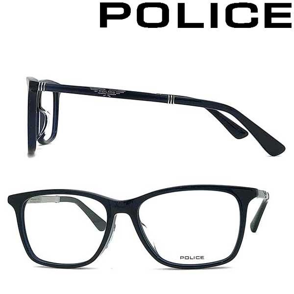 POLICE メガネフレーム ポリス メンズ&レディース クリアダークネイビー 眼鏡 浦和レッズ槙野選手 着用モデル POLICE-VPLB26J-03LV ブランド