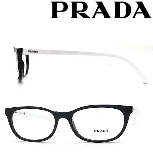PRADA メガネフレーム プラダ メンズ&レディース ブラック×ホワイト 眼鏡 0PR-13VV-YC41O1