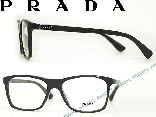 プラダ PRADA メガネフレーム 眼鏡 ブラック めがね PR-05SVF-1AB1O1 ブランド/メンズ&レディース/男性用&女性用/度付き・伊達・老眼鏡・カラー・パソコン用PCメガネレンズ交換対応
