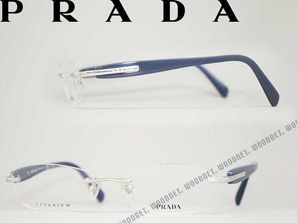 woodnet: PRADA eyeglass frames silver rim no Fuchi No-type Prada ...