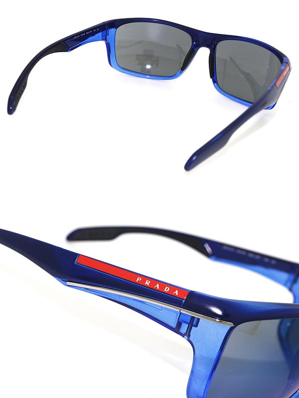 ae0aed74185c ... mirrored sunglasses lyst dbdb7 da5a7 reduced sunglasses prada linea  rossa blue miller prada linea rossa 0ps 01ns gak9p1 branded mens ladies ...