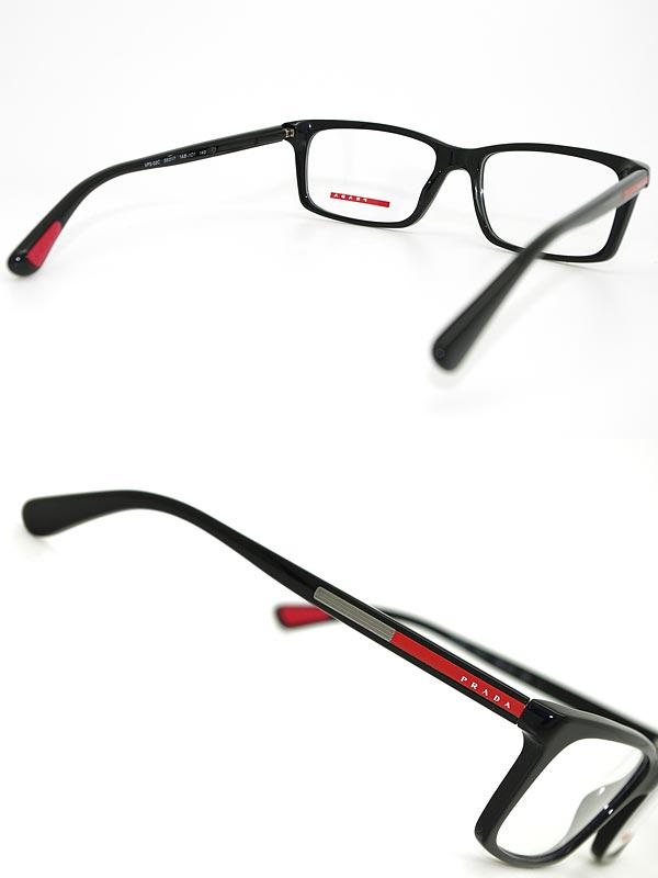 PRADASPORTめがねブラックプラダスポーツメガネフレーム眼鏡アイウェア0PS-02CV-1AB1O1WN0054