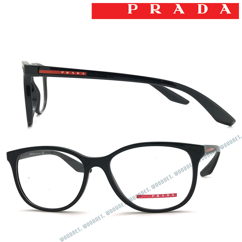PRADA LINEA ROSSA メガネフレーム プラダリネアロッサ メンズ&レディース ブラック 眼鏡 0PS-03LV-1AB1O1 ブランド