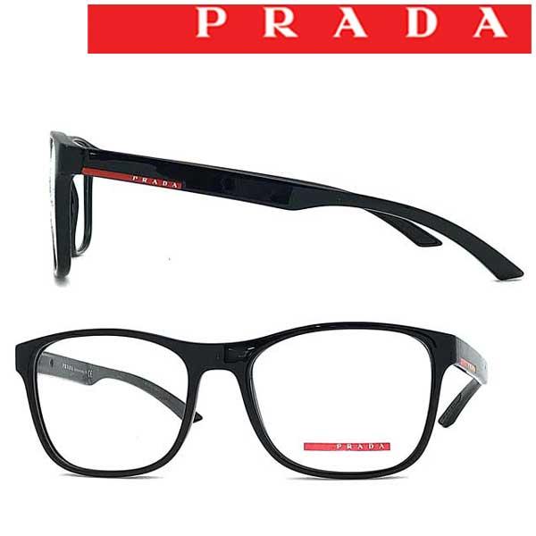 PRADA LINEA ROSSA メガネフレーム メンズ&レディース プラダリネアロッサ ブラック 眼鏡 0PS-08GV-1AB1O1 ブランド
