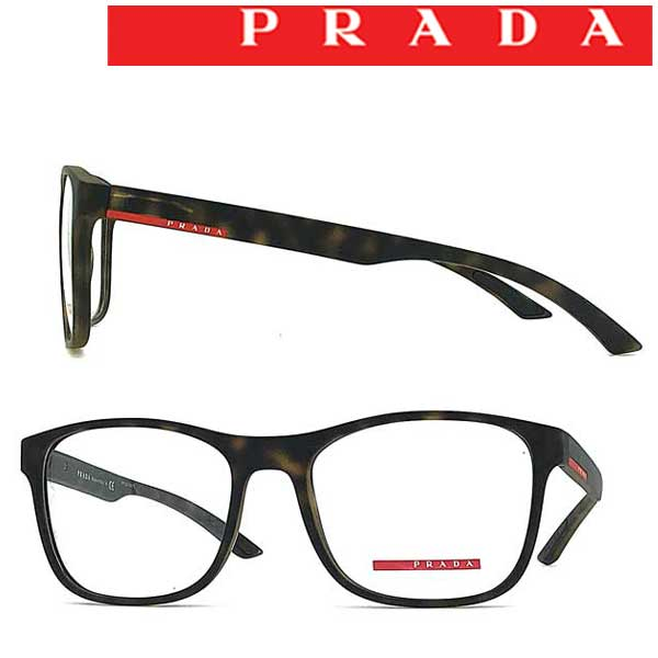 PRADA LINEA ROSSA メガネフレーム メンズ&レディース プラダリネアロッサ マットマーブルブラウン 眼鏡 0PS-08GV-U611O1 ブランド