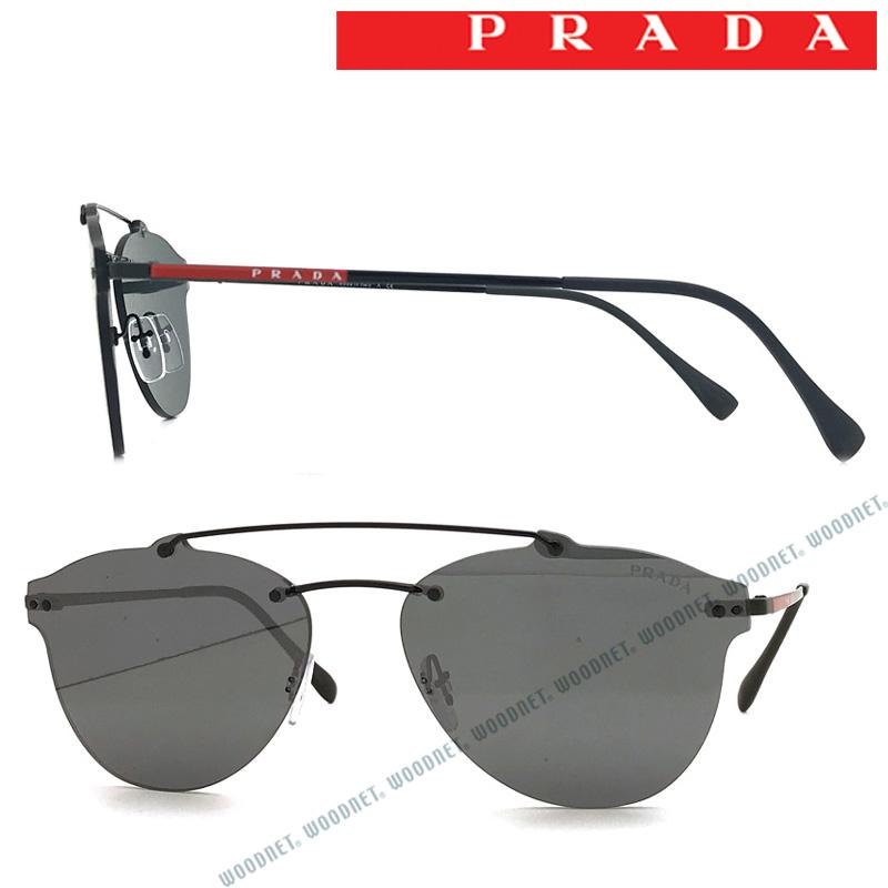 PRADA LINEA ROSSA サングラス UVカット プラダリネアロッサ メンズ&レディース シルバーミラー 縁なし 0PS-55TS-1AB5LO ブランド