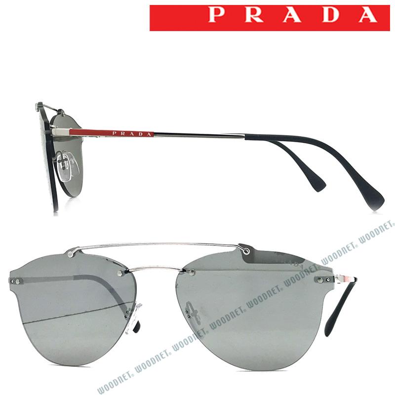 PRADA LINEA ROSSA サングラス UVカット プラダリネアロッサ メンズ&レディース ブラックミラー 縁なし 0PS-55TS-1BC2BO ブランド