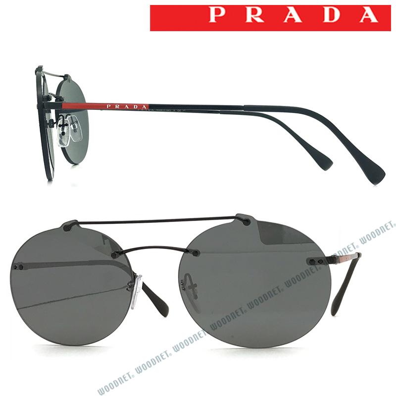 PRADA LINEA ROSSA サングラス プラダリネアロッサ メンズ&レディース ブラックミラー 縁なし 0PS-56TS-1AB5LO ブランド