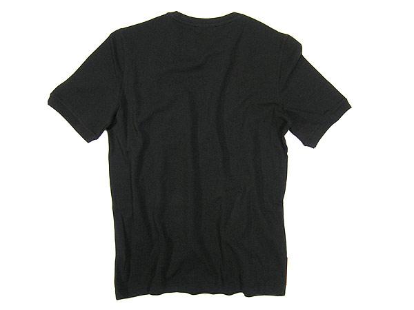 供PRADA LINEA ROSSA puradarinearossa短袖T恤黑色SJM434-322-PIQUET-NERO名牌/人/男性使用