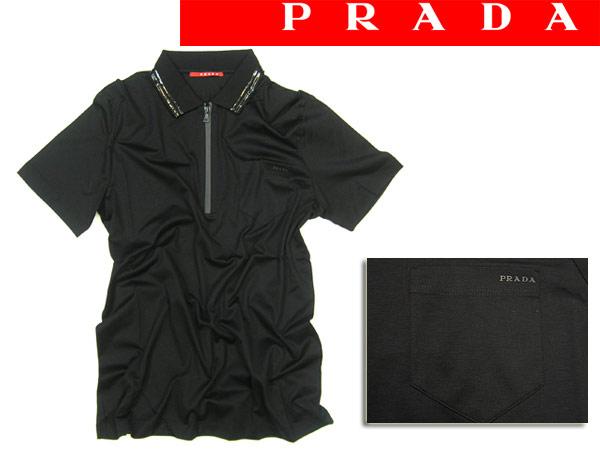 프라다리네아롯사집파포로샤트 PRADA LINEA ROSSA 반소매 블랙 SJM581-L80-NERO 브랜드/맨즈/남성용