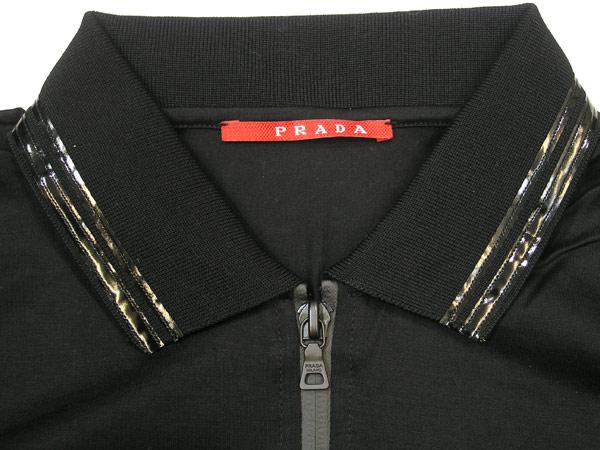 供puradarinearossajippaporoshatsu PRADA LINEA ROSSA短袖黑色SJM581-L80-NERO名牌/人/男性使用