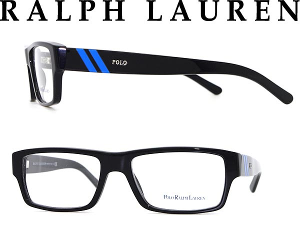 3259415b216a ... convex glasses, color PCs with the / degree for & women for glasses  frame Ralph Lauren square type black X blue RALPH LAUREN POLO ...