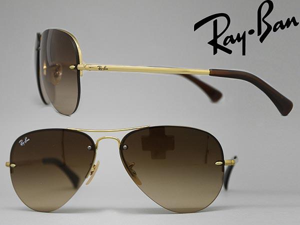 RayBan サングラス レイバン グラデーションブラウンティアドロップ0RB-3449-001-13 ブランド/メンズ&レディース/男性用&女性用/紫外線UVカットレンズ/ドライブ/釣り/アウトドア/おしゃれ