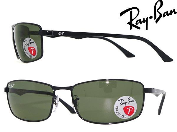 サングラス レイバン ブラック 偏光レンズ RayBan 0RB-3498-002-9A ブランド/メンズ&レディース/男性用&女性用/紫外線UVカットレンズ/ドライブ/釣り/アウトドア/おしゃれ