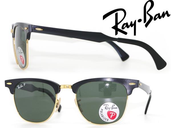 サングラス RayBan ブラック 偏光レンズ サーモント型 レイバン 0RB-3507-136-N5 ブランド/メンズ&レディース/男性用&女性用/紫外線UVカットレンズ/ドライブ/釣り/アウトドア/おしゃれ