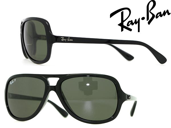 d51341e7ac woodnet: Black sunglasses «polarized lenses» RayBan Ray Ban 0RB- 4162-601-58 branded/mens & ladies / men for & woman sex for  and ...
