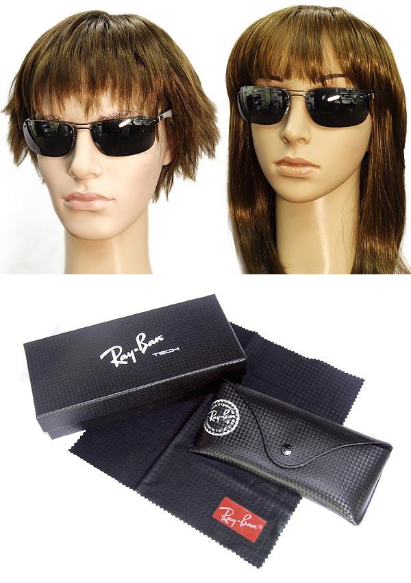 a8fb1afd3c ... Black mirror sunglasses Ray Ban polarized lens carbon fiber RayBan 0RB- 8310-004- ...
