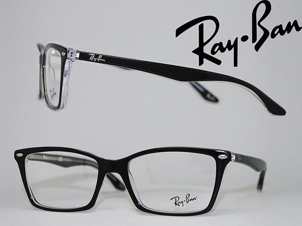 76080ed3d3 Glasses frame RayBan black x クリアスケルトン Ray Ban eyeglasses glasses  0RX-5241-2034 WN 0042 branded mens   ladies   men for   woman sex for and  once with ...