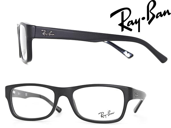 woodnet: Glasses frame Ray Ban matte black RayBan ...