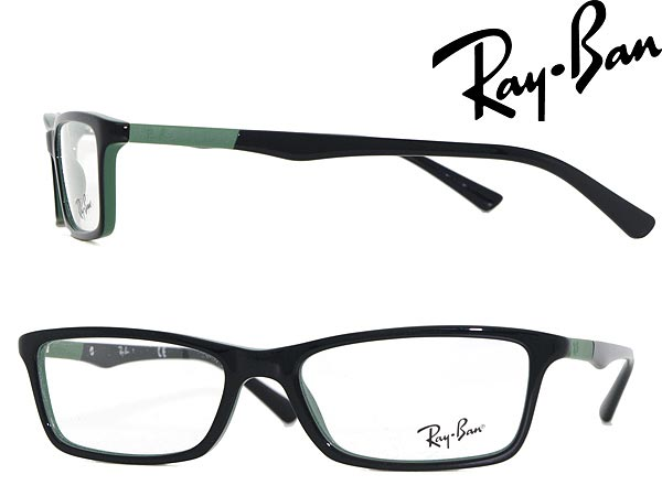e2252ec99b00 Ray Ban glasses black x green RayBan glasses frames glasses 0RX-5284-5138  WN 0037 branded mens   ladies   men for   woman sex for and once with ITA  reading ...
