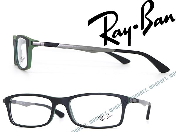 c692dc7432 Glasses frame Ray Ban matte black x matte green RayBan eyeglasses glasses  0RX-7017-5197 branded mens  amp  ladies   men for  amp  woman sex for and  advanced ...