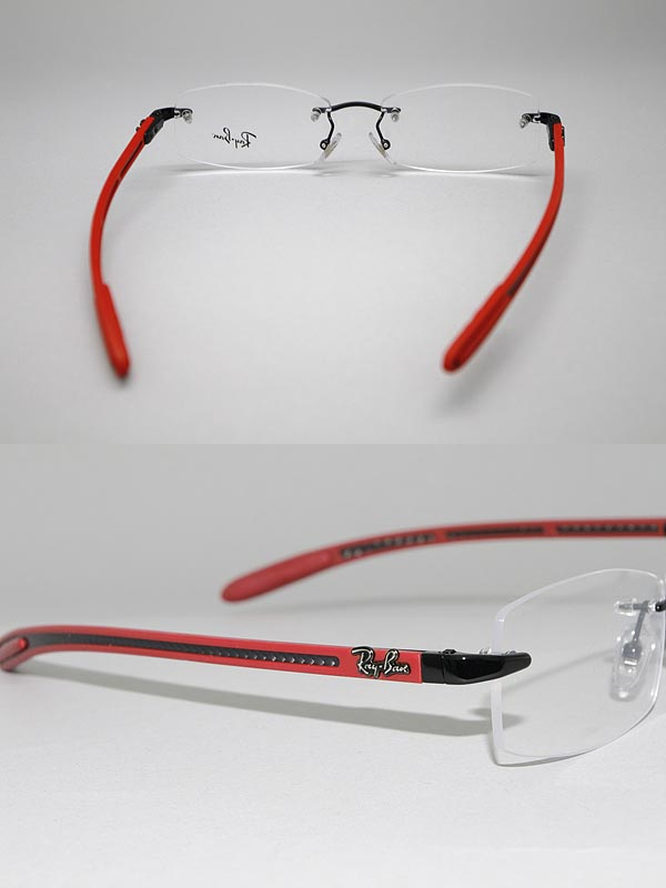 0af866f4a8338 Glasses frame Ray Ban rim no   edge without black x gun x red RayBan  glasses eyeglasses 0RX-8402-2509 branded mens   ladies   men for   girls of  for ...
