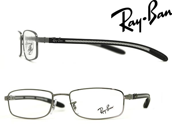 4fa96e0124 Ray Ban eyeglasses frame Gunmetal × Silver × Black RayBan eyeglasses  glasses 0rx-8305-2502 WN 045 branded mens   ladies   man sex for   woman  sex ...