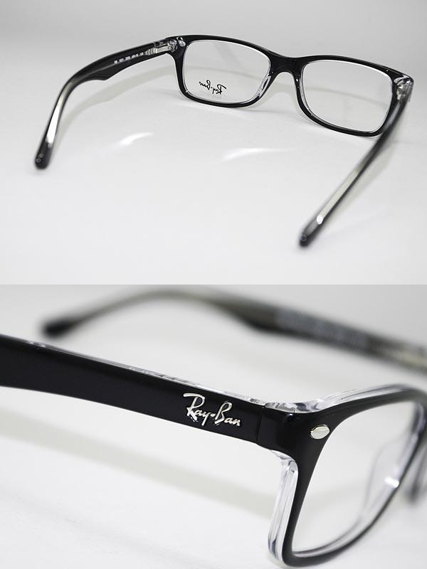 めがね レイバン ブラック×クリア RayBan メガネフレーム 眼鏡 0RY-1531-3529 ブランド/度付き・伊達・老眼鏡・カラー・パソコン用PCメガネレンズ交換対応/レンズ交換は6,800円~