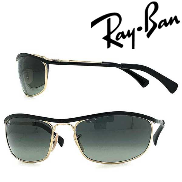RayBan サングラス UVカット レイバン OLYMPIAN ちょいワル ちょい悪 オリンピアン 復刻モデル グラデーションブラック メンズ&レディース 紫外線 UVカット 0RB-3119-916271 ブランド