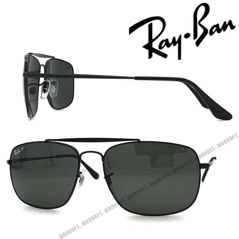 RAYBAN サングラス レイバン THE COLONEL メンズ&レディース ブラック≪偏光レンズ≫ 0RB-3560-002-58 ブランド
