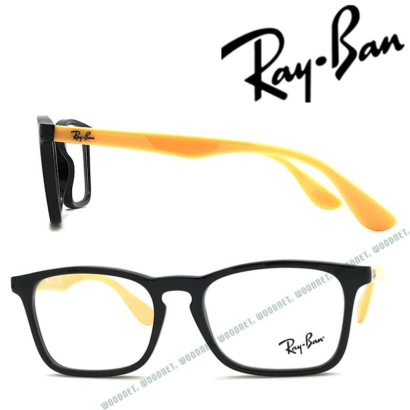 RayBan メガネフレーム レイバン メンズ&レディース【子供用】ブラック 眼鏡 KIDS 0RY-1553-3724 ブランド