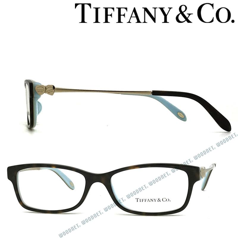 Tiffany & Co. メガネフレーム ティファニー レディース ダークマーブルブラウン×スカイブルー TF2140F-8134 ブランド