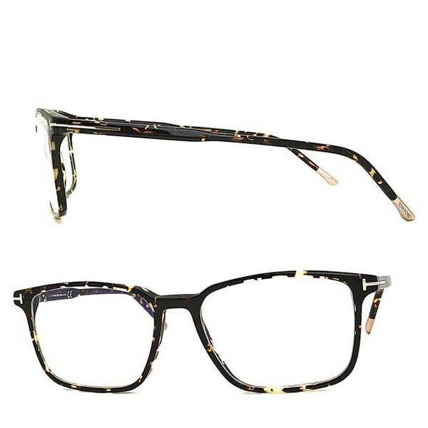 TOM FORD メガネフレーム トムフォード メンズ&レディース マーブルブラウン 伊達メガネ用ブルーライトカットレンズ付 パソコン用PCメガネ 眼鏡 TF-5607B-056 ブランド