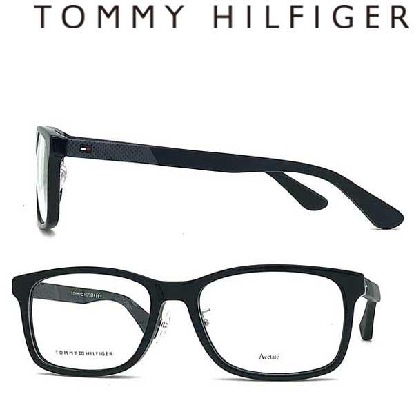 TOMMY HILFIGER メガネフレーム トミーヒルフィガー メンズ&レディース 眼鏡 ブラック TH1568F-807 ブランド