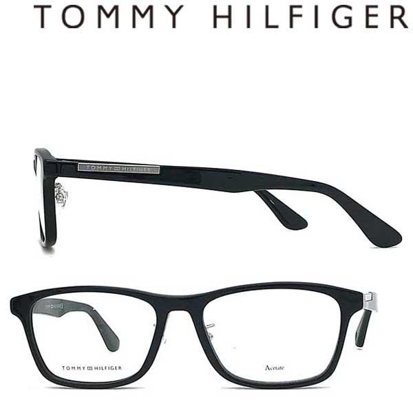 TOMMY HILFIGER メガネフレーム トミーヒルフィガー メンズ&レディース 眼鏡 ブラック TH1582F-807 ブランド