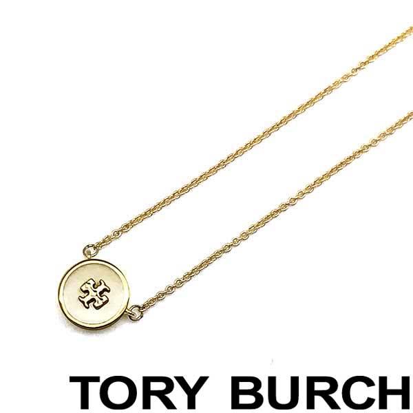 TORY BURCH ネックレス トリーバーチ レディース キラ エナメル ペンダント ゴールド×アイボリー 64936-110